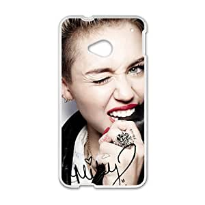 Happy Miley Cyrus Cell Phone Case for HTC One M7