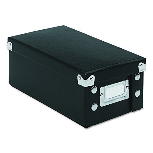 Snap-N-Store 3x5 Index Card Box, Black (SNS01573)