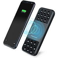 Charmast Batería Externa Qi Inalámbrico 10000mAh,Powerbank Wireless Quick Charger con Ventosa Cargador rápido portátil USB A QC 3.0 USB C Micro Doble Entradas 3 Salidas para iPhone Samsung Smartphone