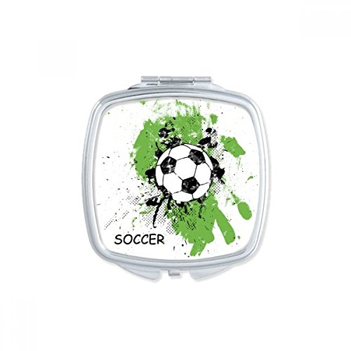 DIYthinker Play Soccer Football Sports Square Compact Makeup Pocket Mirror Portable Cute Small Hand Mirrors Gift by DIYthinker