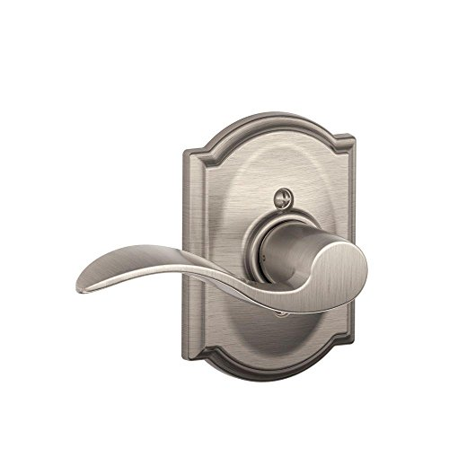Decorative Door Trim (Schlage F170 ACC 619 CAM LH Camelot Collection Left Hand Accent Decorative Trim Lever, Satin Nickel)