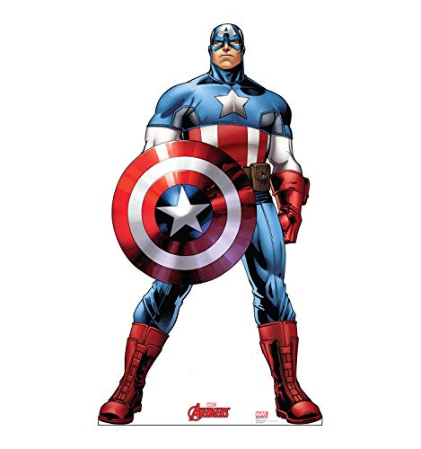 Advanced Graphics Captain America Life Size Cardboard Cutout Standup - Marvel's Avengers Animated -