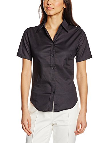 Fruit of the Loom Ss110m, Camisa para Mujer negro