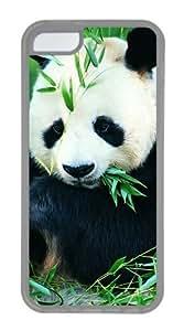 Customized Case Panda Transparent for Apple iPhone 5C