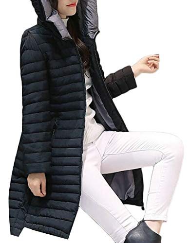 Slim Down TTYLLMAO Lightweight Black Hooded Jackets Solid Women's Coats Puffer BqwHB1f