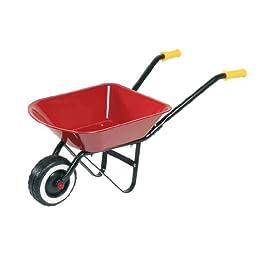 Kleine Kinderschubkarre von Goki in Rot Schwarz ab 2 Jahren