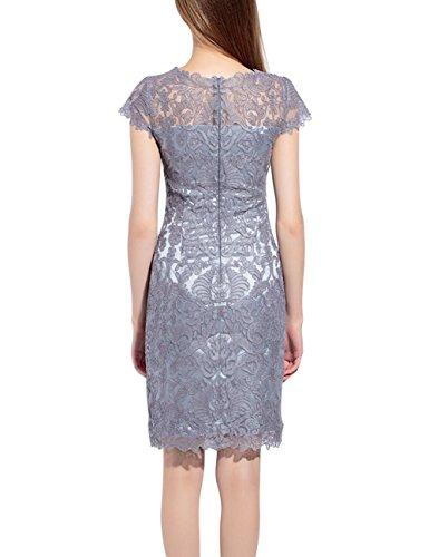 Sommer Art dünnes Kleider Mena Spitze Stickerei Schlauch Grau Kleid Frauen OwOYqf7