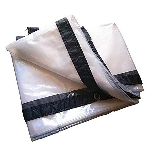 - BAIYING Transparent Tarpaulin Outdoor Tarpaulin Thickening PE Rainproof Cloth Grommet Metal Buckle Polyethylene, 22 Sizes,Customizable (Color : Clear, Size : 5X10M)