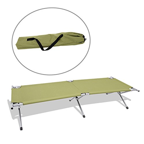 New MTN-G Outdoor Folding Cot Portable Camping Military Hiking Medical Bed Sleeping w/ - Mice Blind Cane