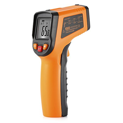 Digital Infrared Thermometer,Non-Contact Laser LCD Display Digital IR Infrared Thermometer Temperature Tester Gun Powered By 2 AAA Batteries