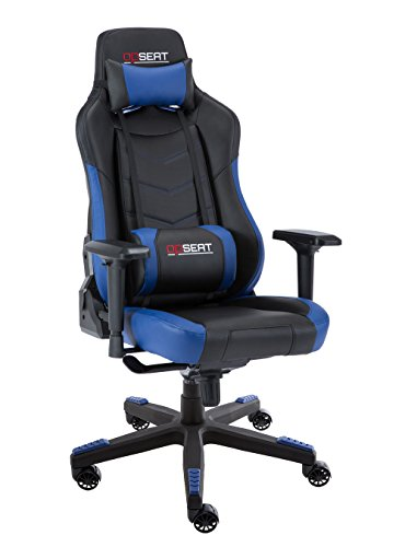 OPSEAT Grandmaster Series 2018 Computer Gaming Chair Racing Seat PC Gaming Desk Office Chair - Blue OPSEAT