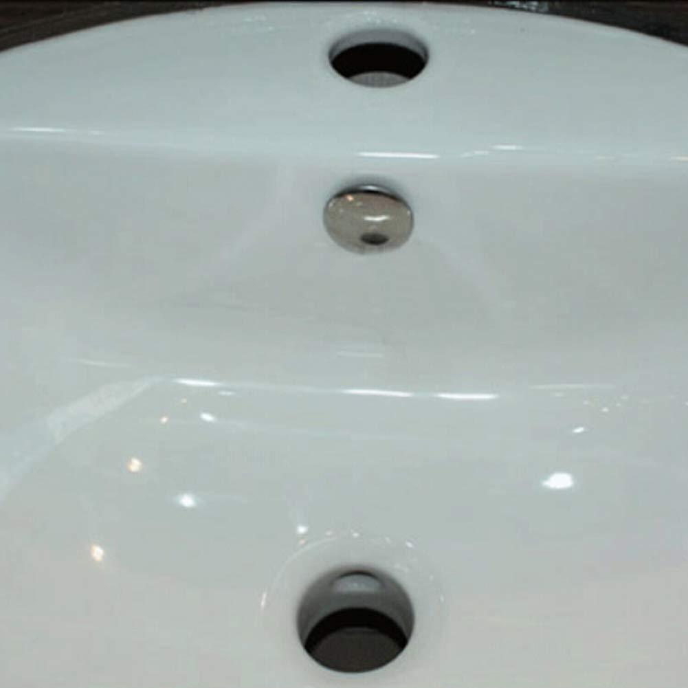 Sunzhenhao plateado Bandeja de ba/ño de repuesto redonda para rebosadero con anillo para rebosadero