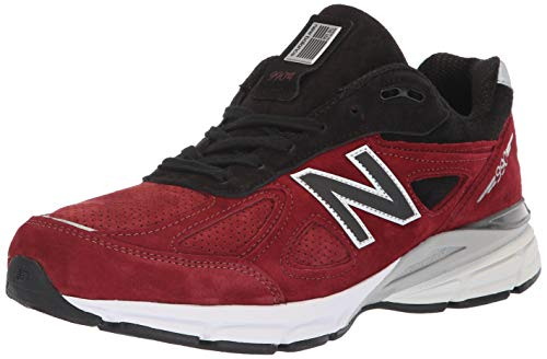 New Balance Men's 990v4, Red, 10 D US -  M990RB4