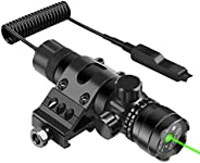 Feyachi GL6 Tactical Green Laser Sight with 45 Degree P13 Picatinny Rail Mount and Pressure Switch