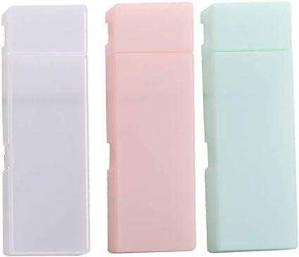 toymytoy estuche portalápices de plástico estuche portalápices de plástico claro pack de 3 unidades): Amazon.es: Oficina y papelería