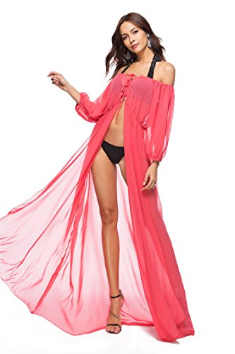 Da Beachwear Delle Lunga Costume Coprire Spiaggia Donne Abito Anguria Bagno Floreale Boho Stampato Joygown qZwTttxC4