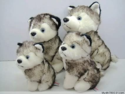 Amazon Com 10 Inches Husky Dog Plush Stuffed Alaskan Malamute