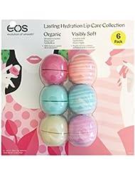 Eos Evolution of Smooth Lip Balm ~ Lasting Hydration Lip Care Collection 6-pack ~ Strawberry Sorbet, Sweet Mint, Vanilla Bean, Coconut Milk, Vanilla Mint, Honey Apple