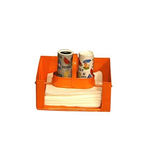 オレンジSalt & Pepperナプキンホルダー   B01DYRKDGQ