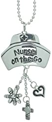Car Charm - Silver Nurse on the Go