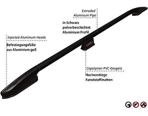 Barras de Techo para Citroen Berlingo II a Partir del a/ño de construcci/ón 2008 2018 en Aluminio Negro con T/ÜV y Abe