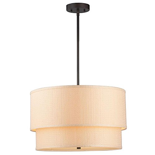 Double Drum Shade Pendant Lights in Florida - 9