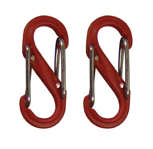 nite-ize-sbp0-2pk-10-s-biner-plastic-size-0-double-gated-carabiner-red-2-pack