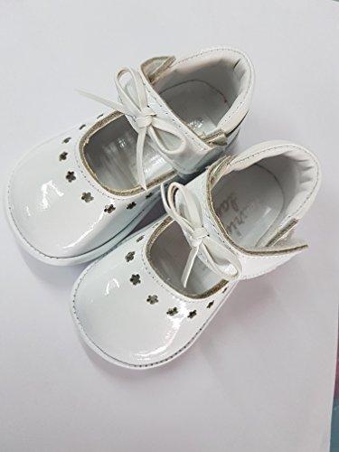 Las niñas blanco duro Soled zapatos blanco blanco Talla:1