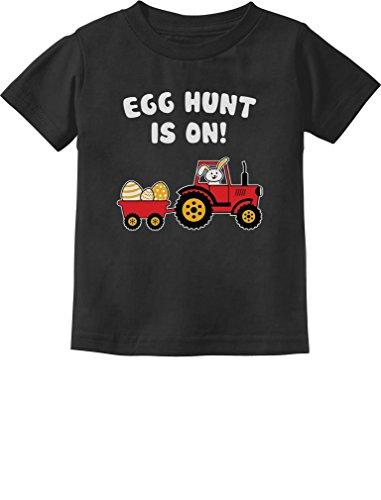 Tee Infant Toddler - Easter Egg Hunt Gift for Tractor Loving Kids Toddler/Infant Kids T-Shirt 2T Black