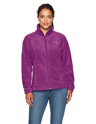 Columbia Women's Petite Benton Springs Full Zip Jacket, Dark Raspberry, Medium
