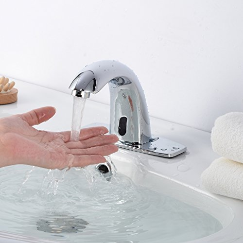 Barryblue Automatic Electronic Sensor Touchless Faucet Hands Free Bathroom Vessel Sink Water Tap