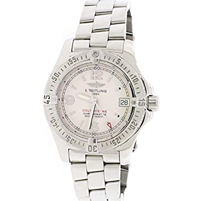 Breitling Colt Oceane Ladies 33MM Factory Silver Stick Dial Steel Watch A77380 (Certified Pre-Owned) by Breitling