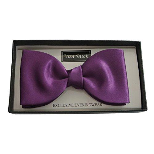 Bow Buck Ties Van Purple Satin qAZwxE