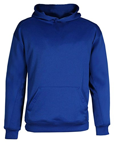 Badger Sport Youth BT5 Performance Hooded Sweatshirt - 2454 - Royal - (Badger Hooded Sweatshirt)