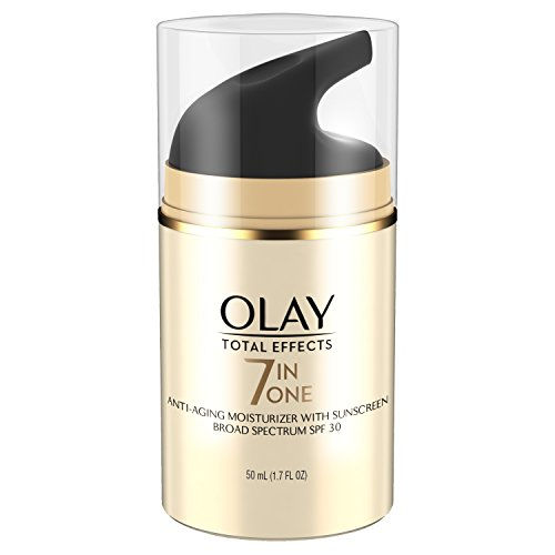 Face Moisturizer with SPF 30 by Olay Total Effects, 7 Benefits , Anti-Aging , 1.7 oz (Packaging May...