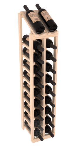 Wine Racks America Ponderosa Pine 2 Column 10 Row Display Top Kit. Unstained