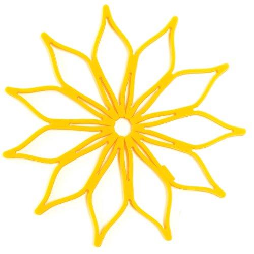 Spice Ratchet Blossom Multi-Use Mini Silicone Trivet, Yellow ()