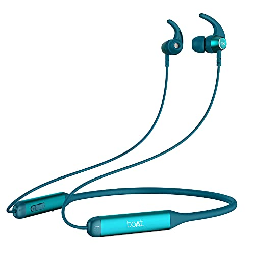 boAt Rockerz 330 Wireless Neckband with ASAP Charge, Up to 30H Playback, Enhanced Bass, Metal Control Board, IPX5, Type C Port, Bluetooth v5.0, Voice Assistant(Teal Green)
