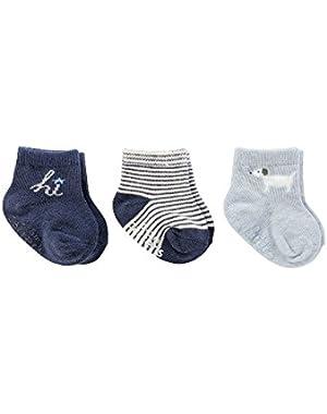 Baby Boys' 3-Pack Hi Socks