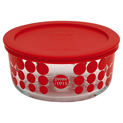 Pyrex 100 4 Cup 100th Anniversary Red Dot Storage Dish