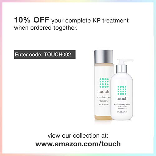 Touch Keratosis Pilaris & Acne Exfoliating Body Wash Cleanser - KP Treatment with 15% Glycolic Acid, 2% Salicylic Acid, Hyaluronic Acid - Smooths Rough & Bumpy Skin - Gets Rid Of Redness, 8 Ounce by TOUCH (Image #5)