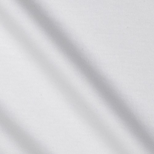Certified Fabric (TELIO Organic Cotton Interlock Knit White Fabric By The Yard)