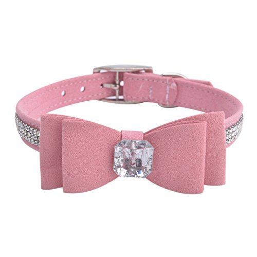 BINGPET Diamond Bow Tie Crystal Rhinestone Pet Collar Designer Girl Boy Dog Collars