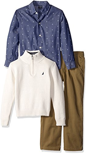 nautica-little-boys-toddler-three-piece-set-with-shirt-quarter-zip-sweater-flat-front-twill-ivory-2t
