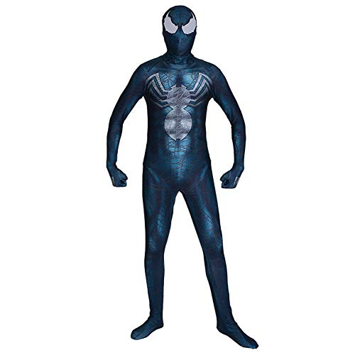 Jiasong Venom Spiderman Costumes Custom 3D Printed Symbiote Spider-Man Lycra Cosplay Costume (Kids-M)
