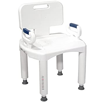 Premium Sturdy Shower Bath Chair With Adjustable Legs And Safe Non-Slip Feet