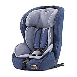 Kinderkraft Car Seat SAFETY FIX, Booster Child Seat, with Isofix, Top Tether, Adjustable Headrest, for Toddlers, Infant, Group 1/2/3, 9-36 Kg, Up to 12 Years, Safety Certificate ECE R44/04, Navy