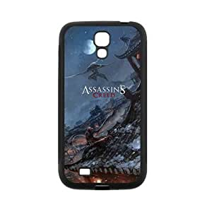 Creative Assassin's Creed Super Cool Phone Shell Case for SamSung Galaxy S4 I9500,TPU+PC Diy Galaxy s4 Cover Case s4-linda674