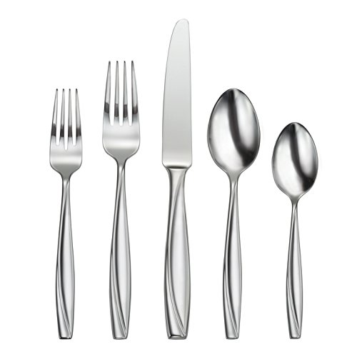 Oneida Camlynn Mirror 65 Piece Casual Flatware Set, 18/0 Stainless, Service for 12 by Oneida