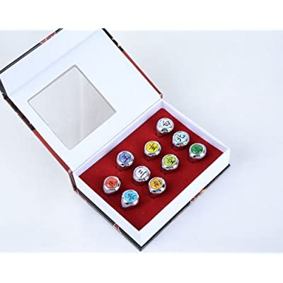 10 Pcs Naruto Rings NARUTO Akatsuki Cosplay Member's Ring Set New In Box: Sports & Outdoors